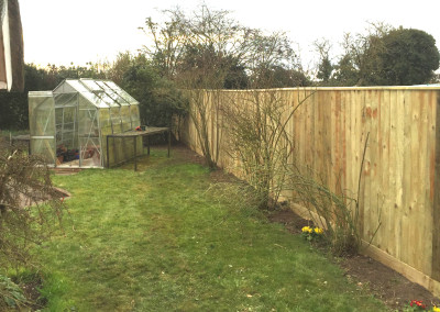 Feathered edge fencing
