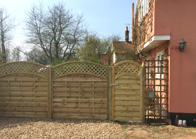 Decorative fencing with gate