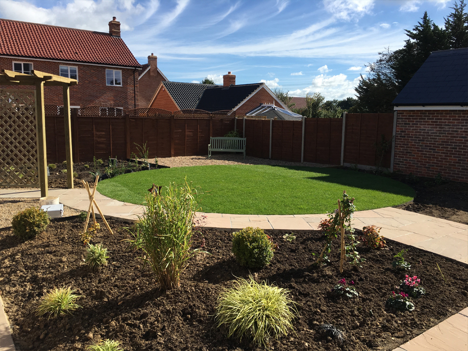 turfing and pathway